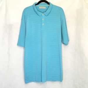 Tommy Bahama XXL 2X Shirt Blue Textured Polo